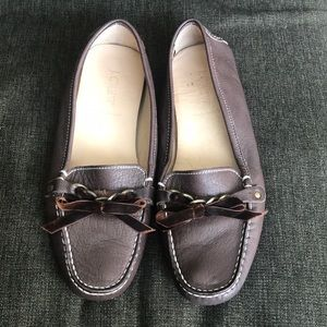 J Crew women's leather driving moc size 8